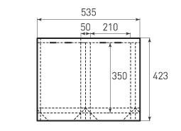 Вертикальный бумажный пакет V210x350x50