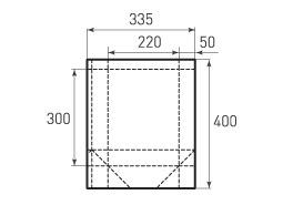 Вертикальный бумажный пакет V220x300x100