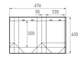 Вертикальный бумажный пакет V220x320x110