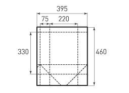 Вертикальный бумажный пакет V220x330x150