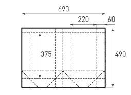 Вертикальный бумажный пакет V220x375x120