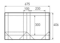 Вертикальный бумажный пакет V230x300x100