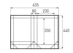 Вертикальный бумажный пакет V230x350x80