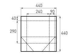 Вертикальный бумажный пакет V240x290x180