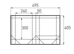 Вертикальный бумажный пакет V240x300x100
