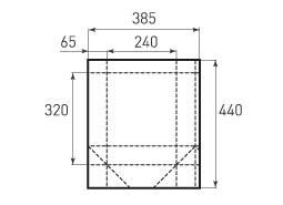 Вертикальный бумажный пакет V240x320x130