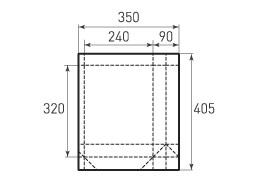 Вертикальный бумажный пакет V240x320x90