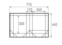 Вертикальный бумажный пакет V240x330x110