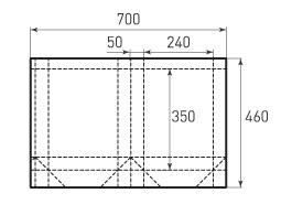 Вертикальный бумажный пакет V240x350x100
