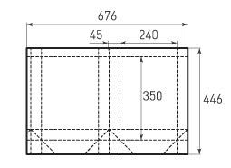 Вертикальный бумажный пакет V240x350x90