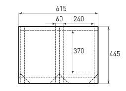 Вертикальный бумажный пакет V240x370x60