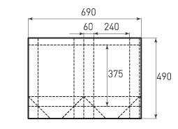 Вертикальный бумажный пакет V240x375x120
