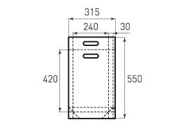 Вертикальный бумажный пакет V240x420x60