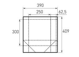 Вертикальный бумажный пакет V250x300x125