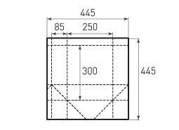 Вертикальный бумажный пакет V250x300x170