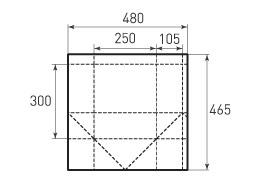 Вертикальный бумажный пакет V250x300x210