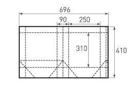 Вертикальный бумажный пакет V250x310x90