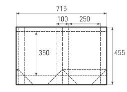 Вертикальный бумажный пакет V250x350x100
