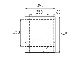 Вертикальный бумажный пакет V250x350x120