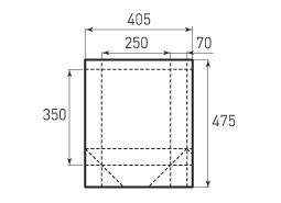 Вертикальный бумажный пакет V250x350x140