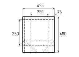 Вертикальный бумажный пакет V250x350x150