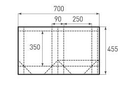 Вертикальный бумажный пакет V250x350x90