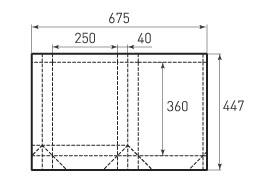 Вертикальный бумажный пакет V250x360x80