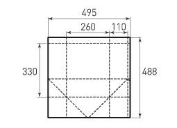 Вертикальный бумажный пакет V260x330x220