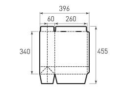 Вертикальный бумажный пакет V260x340x120