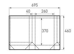 Вертикальный бумажный пакет V260x370x80