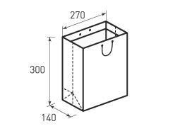 Вертикальный бумажный пакет V270x300x140