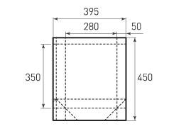 Вертикальный бумажный пакет V280x350x100