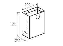 Вертикальный бумажный пакет V300x350x200