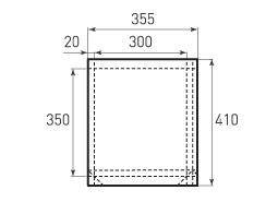 Вертикальный бумажный пакет V300x350x40