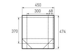 Вертикальный бумажный пакет V300x370x136