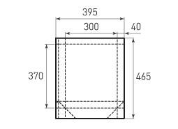 Вертикальный бумажный пакет V300x370x80