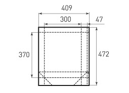 Вертикальный бумажный пакет V300x370x94