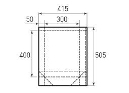 Вертикальный бумажный пакет V300x400x100