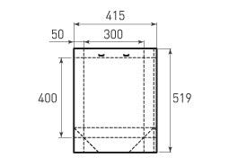 Вертикальный бумажный пакет V300x400x100 с прорезями