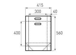 Вертикальный бумажный пакет V300x400x100 с ручками