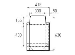 Вертикальный бумажный пакет V300x400x100 с клапаном