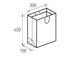 Вертикальный бумажный пакет V300x400x150