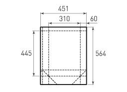Вертикальный бумажный пакет V310x445x120