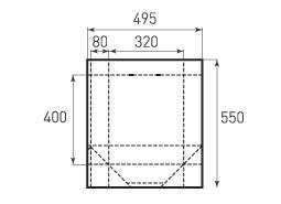 Вертикальный бумажный пакет V320x400x160