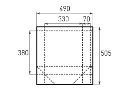 Вертикальный бумажный пакет V330x380x140