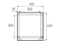 Вертикальный бумажный пакет V340x365x50