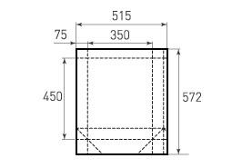 Вертикальный бумажный пакет V350x450x150