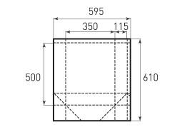 Вертикальный бумажный пакет V350x500x230