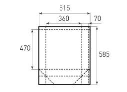 Вертикальный бумажный пакет V360x470x140