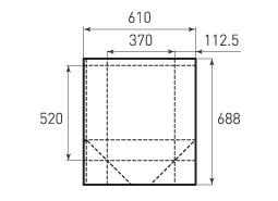 Вертикальный бумажный пакет V370x520x225